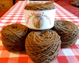 Linda Scott's Handspun Manx Loaghtan yarn